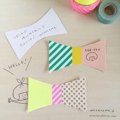 マスキングテープで可愛いリボンカード|LIMIA (リミア)