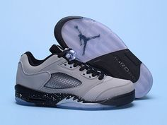 d48221dad80 Air Jordan 5 V Low Mens Basketball Shoes Grey Black,Price:$48 Cheap Jordans