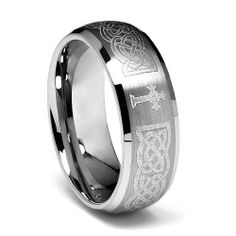 Valentines Day 8mm Braid Pattern Laser Engraved Celtic Design with Cross Men's Cobalt Free Tungsten Carbide Comfort-fit Wedding Band Ring (Size 8 to 14) The World Jewelry Center. $18.00. Tungsten has a tendency to break when hit with a hard material. Promptly Packaged with Free Gift Box and Gift Bag. scratch proof