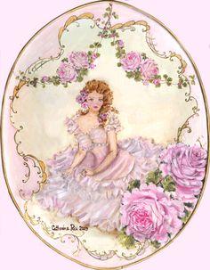 Romantic Cherubs and Roses Canvas Prints