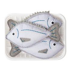 Antsy Pants Play Food Felt Fish - 3pc $9