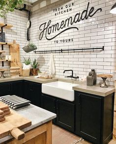 Top 42 Kitchen Design Inspirations from Joanna Gaines www.futuristarchi… Top 42 Kitchen Design Inspirations from Joanna Gaines www. Farmhouse Sink Kitchen, Kitchen Colors, Kitchen Backsplash, New Kitchen, Kitchen Dining, Kitchen Decor, Kitchen Cabinets, Kitchen Sink, Farmhouse Style
