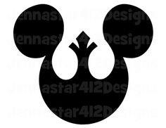 Star Wars Rebel Mickey DIY Printable Iron On Transfer Digital File