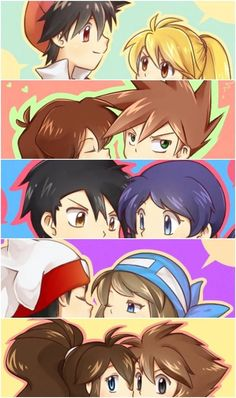 Look at the cuties. SpecialShipping, OldRivalShipping, MangaQuestShipping, FranticShipping, and AgencyShipping #pokespe