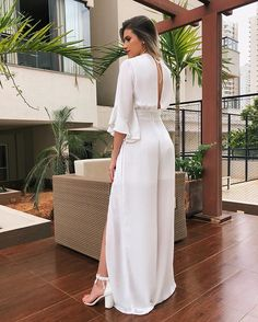 Shop sexy club dresses, jeans, shoes, bodysuits, skirts and more. White Fashion, Girl Fashion, Fashion Dresses, Fashion Looks, Romper Dress, Jumpsuit Outfit, Elegant Outfit, Mode Style, Feminine Style