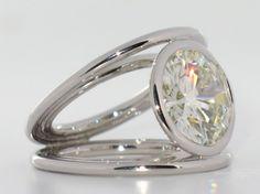 Bague Praha or blanc Diamant 7,55 carats 3