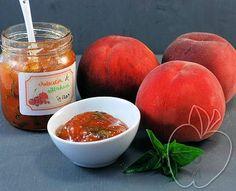 MERMELADA DE MELOCOTÓN Y ALBAHACA Basil and Peach Jam Confiture de Pêches au Basilic