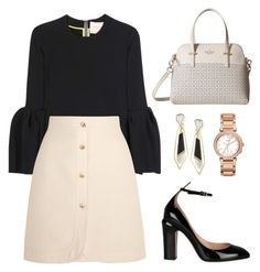 """""""Untitled #87"""" by tazkiasaras on Polyvore featuring Roksanda, Gucci, Valentino, Kate Spade, Alexis Bittar and FOSSIL"""