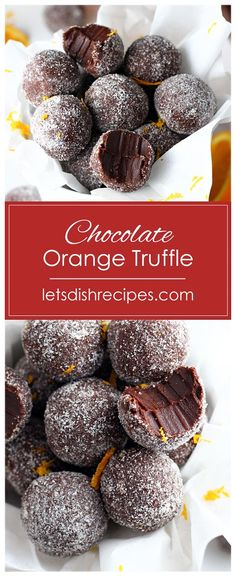 Easy Chocolate Orange Truffles Recipe: Dark chocolate and orange oil combine in these rich decadent truffles. With only four ingredients, you won't believe how easy they are to make! #chocolate #orange #truffles #candy #recipes