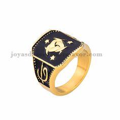 anillo moda especial en acero dorado inoxidable-SSRGG371799