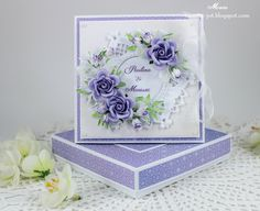 Wedding in purples This card is so pretty!