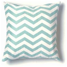 ZigZag Pillow, Seafoam and White - contemporary - pillows - Design Public