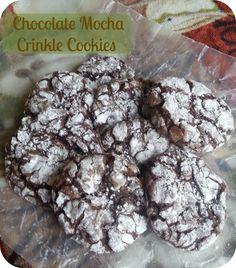 Chocolate Mocha Crinkle Cookies (cake mix base}