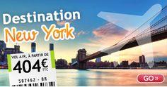 Go Voyages promo vol pas cher, réservez votre billet d'avion avec l'offre Go Voyages Vol New York pas cher 438.00 € TTC.