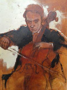 cellist, classical music, cello, orchestra Cello, Classical Music, Orchestra, Paintings, Art, Art Background, Paint, Painting Art, Kunst