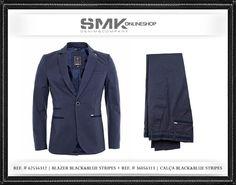 SMK DENIM&Co.: SMK DENIM&Co. | BLAZER + CLAÇA BLACK&BLUE STRIPES