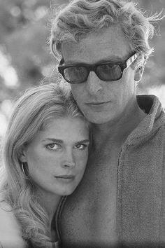 Actors Michael Caine and Candice Bergen on the European set of Guy Green's 'The Magus', adapted from the book by John Fowles, October 1967.