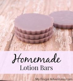 "Homemade Lotion Bars- ""perfect way to stay moisturized year round or make these up for a beautiful homemade gift!"""