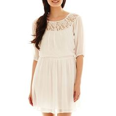 Chiffon Lace Dress - jcpenney