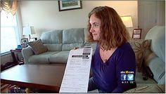Kochs sent hundreds of thousands of fake voter registration mailings in North Carolina. Screenshot of local news footage showing Jennifer Odum holding fake voter registration from sent to her deceased toddler.