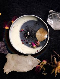 Waxing / Waning Crescent Moon Crystal Candle Due High Demand ALL our Crystal Candle and Wax Melt Pro