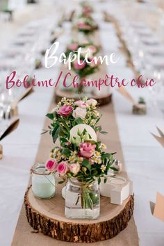 Pretty Bohemian Party – Country Baptism – # Bohemian # Bohemian # Country # Party - New Deko Sites Deco Table Communion, Decoration Communion, Banquet Table Decorations, Banquet Tables, Christening Table Decorations, Halloween Dekoration Party, Boho Lifestyle, Video Rosa, Diy Girlande