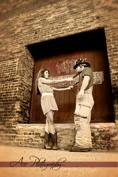 Engagement photo - pulling suspenders but a little differently Firefighter Engagement, Firefighter Love, Country Engagement, Engagement Couple, Engagement Pictures, Wedding Engagement, Engagement Ideas, Country Girl Photography, Couple Photography