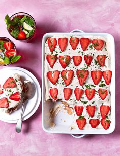 "Tiramisu gets a fruity, summery makeover with what we're calling our ""Piramisu"" – get it? Make the Pimm's tiramisu recipe for your next barbecue"