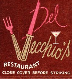 Del Vecchio's Restaurant San Francisco by hmdavid, via Flickr