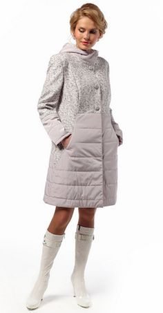 Quilted coat with pockets in seams. Cozy Fashion, Paris Fashion, Winter Fashion, Fashion Outfits, Womens Fashion, Spring Outfits, Winter Outfits, Iranian Women Fashion, Coats For Women