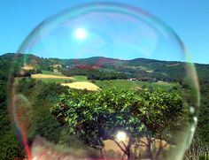"Bolognashire: ""Soap bubble with Appennines view"""