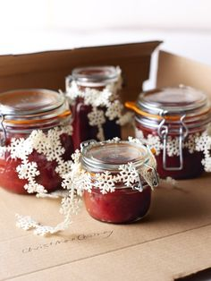 Christmas Chutney - Great holiday gift idea via Nigella Lawson Chutneys, Christmas Chutney, Christmas Jam, White Christmas, Nigella Christmas, Apple Chutney, Plum Chutney, Ginger Chutney, Cranberry Chutney Recipe
