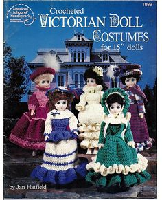 Vintage Crocheted Victorian Doll Costumes for by grammysyarngarden, $5.00