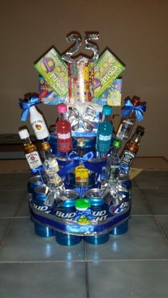 My Brothers Beer Cake That I Made For His 25th Birthday 40th Cakes Men