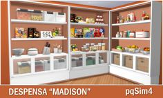 "pqSim4: Despensa ""Madison"". Sims 4 Custom Content."