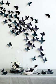DIY- mariposas en pared!