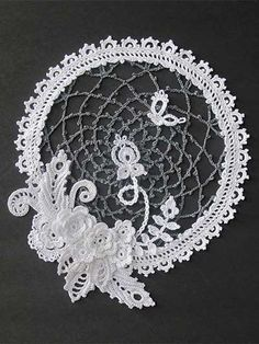 Irish Crochet Lace Sampler - Seen on Pinterest, loved and repined by Craftseller.com.