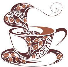 Vinilo decorativo ilustración café 9