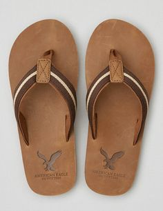 Shop Shoes for Men at American Eagle to get all the essentials. Browse men's flip flops, casual shoes, sneakers, sandals and boots in all the newest designs only at AE. Mens Leather Flip Flops, Mens Brown Leather Shoes, Mens Flip Flops, Flip Flop Shoes, Mens Fashion Shoes, Fashion Boots, Men's Fashion, Chinelos Flip Flop, Leather Slippers For Men
