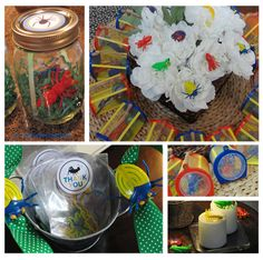 Bug Party Ideas:  Lots of really cute snack, gift, and activity ideas here!