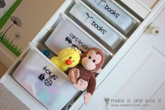 Easy Toy Bin Labeling made with Vinyl and the Silhouette | Make It and Love It