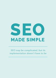 SEO is one of those topics that has the potential to make your eyes glaze over. If you have a blog or a website, you're probably aware that SEO is important for gaining traffic and ranking high in Google searches, but chances are, you might be a little intimidated by it all and unsure of
