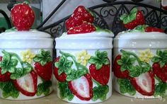 april cornell  strawberry  festival | We had BEAUTIFUL weather Saturday (April 13th) so I thought it would ... Strawberry Kitchen, Strawberry Hill, Strawberry Fields Forever, Strawberry Shortcake Doll, Strawberry Patch, Strawberry Recipes, Strawberry Pictures, Ceramic Canister Set, Strawberry Decorations