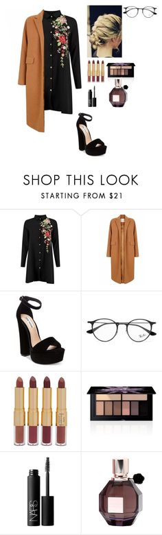 """Seventeen"" by vieen ❤ liked on Polyvore featuring The 2nd Skin Co., Steve Madden, Ray-Ban, tarte, Smashbox, NARS Cosmetics and Viktor & Rolf"