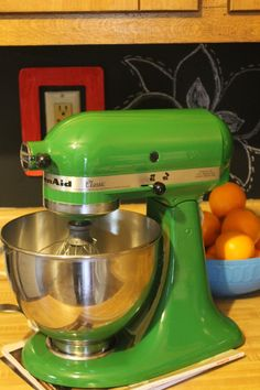 Bon Got A Kitchen Aid Mixer..Why Not Paint It!! The Green Machine