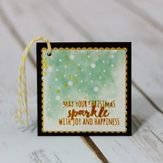 Watercolor gift tags and box featuring the Christmas Pines stamp set from Stampin' Up by Marisa Gunn Stampin Up Christmas, Christmas Tag, Xmas, Joy And Happiness, Simple Gifts, Tis The Season, Stampin Up Cards, Gift Tags, Gift Wrapping