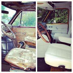 Boogie van, vintage van, interior, before and after