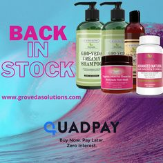 Tired of brittle dry hair? Tired of breakage and hard to comb hair? Good news, We are BACK IN STOCK!! All items are restocked on www.grovedasolutions.com