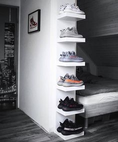 Are Yeezys Dead What Do You ThinkPick One Pair 1 2 3 4 5 or 6 ezcape dailystreetwearinspiration Hypebeast Room, Shoe Room, Shoe Wall, Ikea Lack, New Room, Interior Design, Fashion Guide, Men's Fashion, Street Fashion