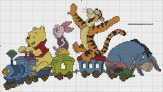 Schema winnie the pooh punto croce Disney Cross Stitch Patterns, Cross Stitch For Kids, Cross Stitch Love, Modern Cross Stitch, Cross Stitch Designs, Disney Stitch, Cross Stitching, Cross Stitch Embroidery, Stitch Cartoon